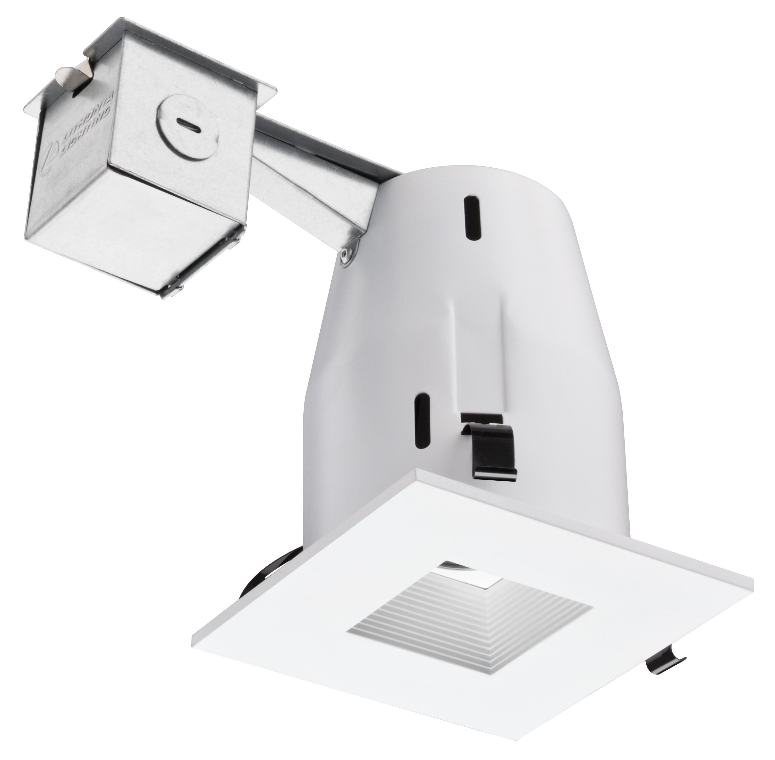 Lithonia Lighting LK4SQMW M6 Square 4 Inch Kit with Halogen Lamp Included in White by Lithonia Lighting (Image #1)
