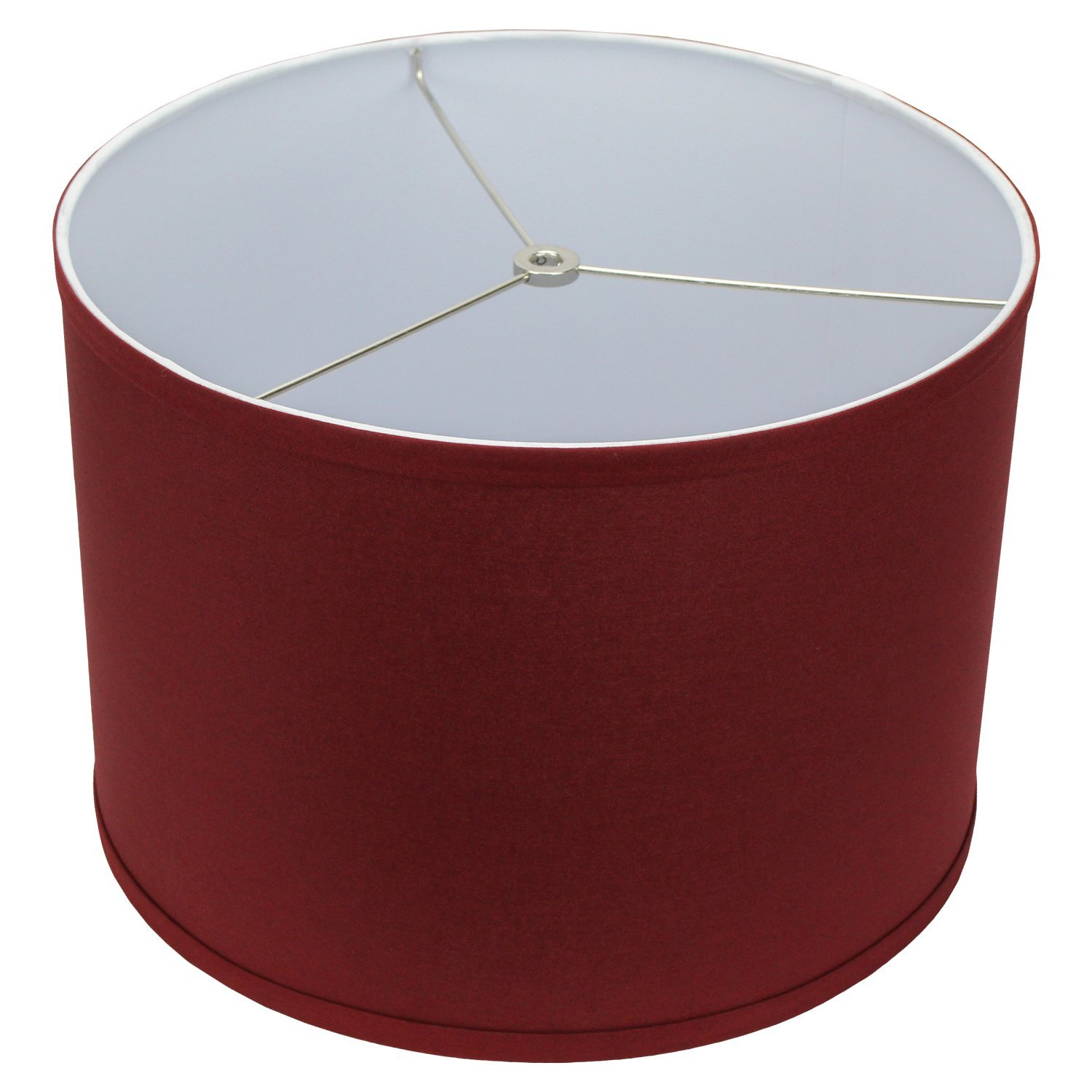 FenchelShades.com 14'' Top Diameter x 14'' Bottom Diameter 10'' Height Cylinder Drum Lampshade USA Made (Brick)