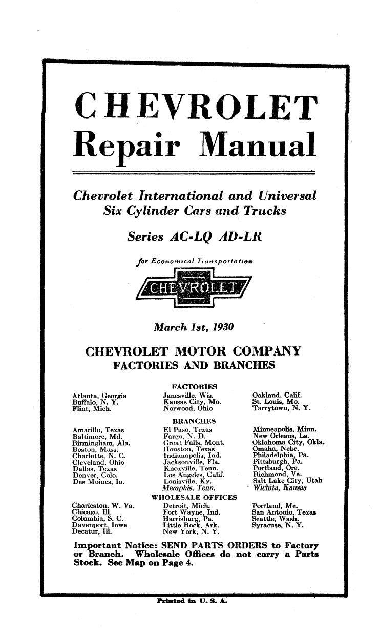 Bishko Automotive Literature 1929 1930 Chevrolet Car Chevy Wiring Diagrams Truck Shop Service Repair Manual Book Engine Electrical