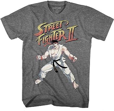 Amazon Com Street Fighter Mens Ryu T Shirt Clothing