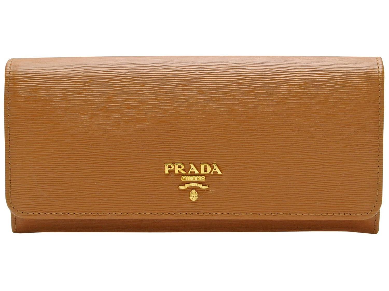 (プラダ) PRADA 財布 長財布 二つ折り パスケース付き キャラメルブラウン 型押しレザー 1mh132vitmov-cara ブランド [並行輸入品] B01HXIWQK8