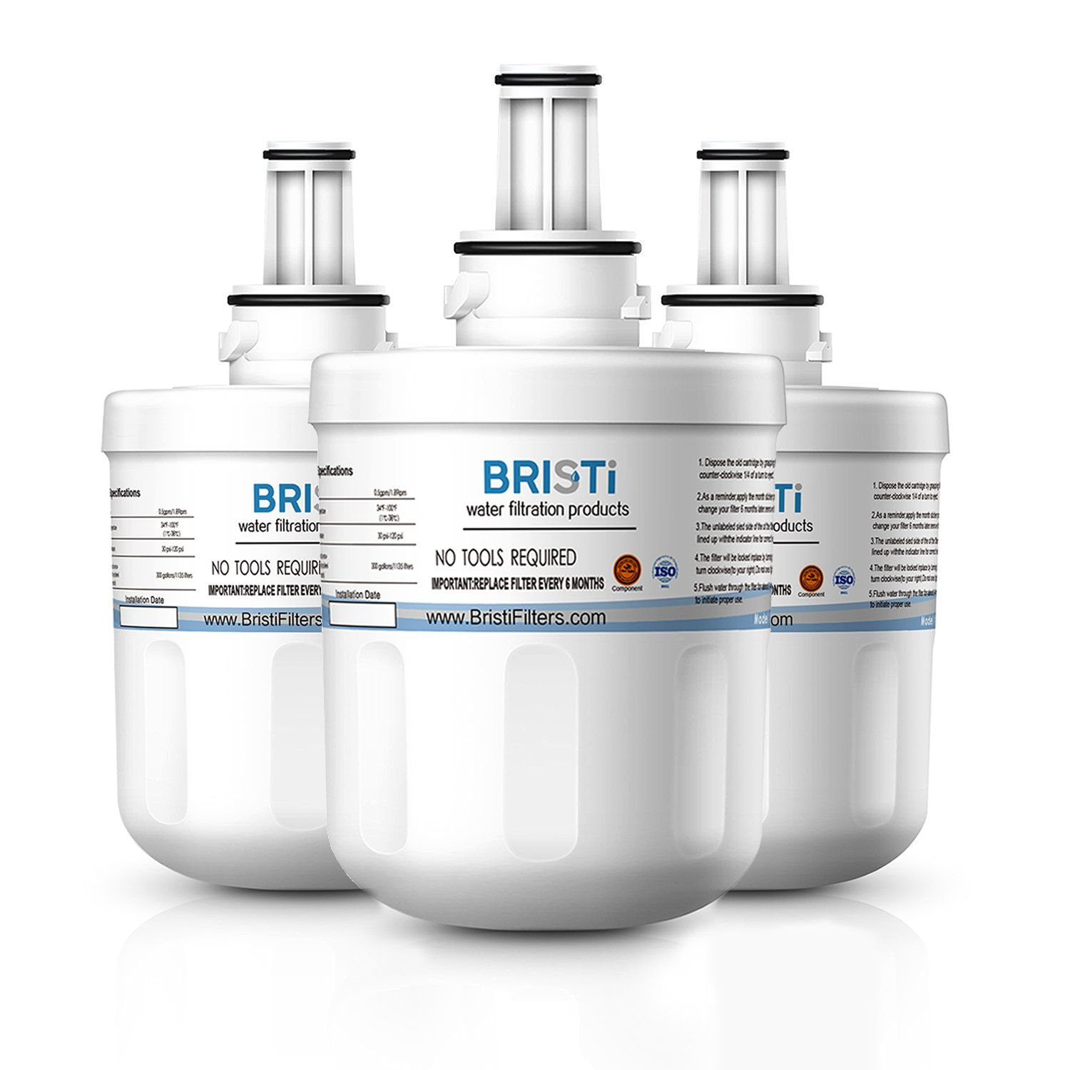 Bristi Samsung DA29-00003G Refrigerator Water Filter Replacement And Fits DA29-00003B, DA29-00003A, HAFCU1 (3 Pack)