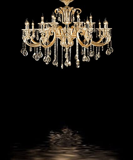 Kate Black Bedroom Backdrops For Photography Gold Chandelier Photo Background Wedding Backdrop Booth 8x10ft