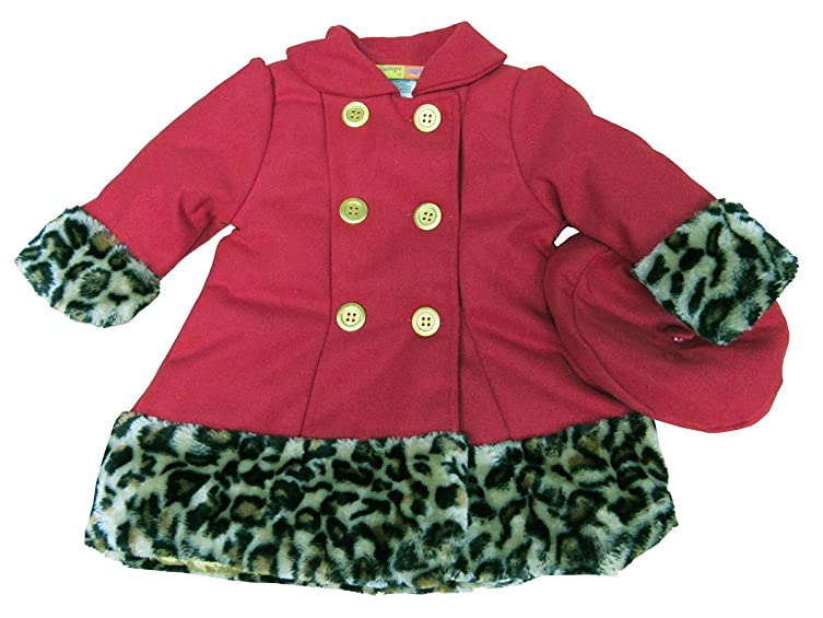 Amazon.com: Penelope Mack Baby Coat, Baby Girls Hat and Faux-Fur ...