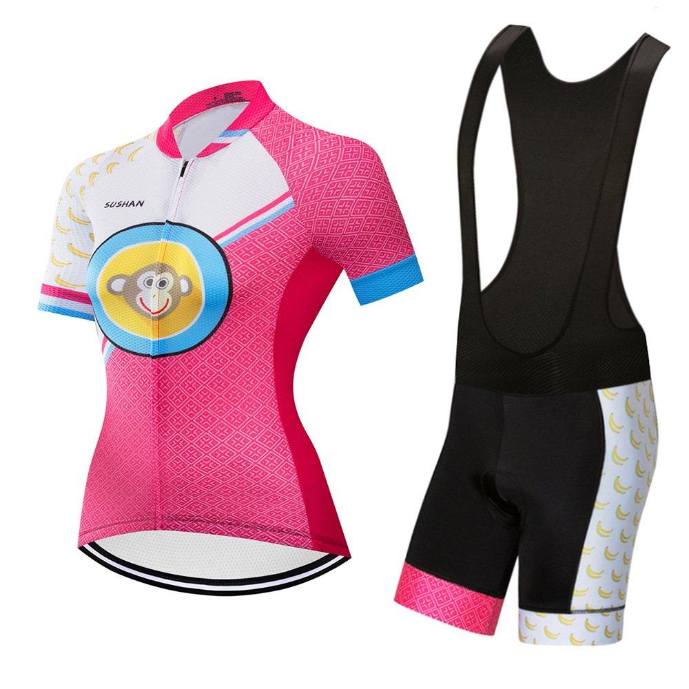 GWJ NBZH Damenschuhe Radtrikot Half Sleeve Racing Team Atmungsaktive Biking Top Top Biking + Fahrrad REIT Bib Shorts Gesetzt 39b326