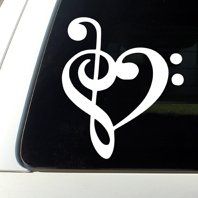 Treble Cleff Music Band Vinyl Die Cut Car Decal Sticker
