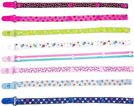 JZK 8 Piezas chupetes de clip bebé cadenas para chupetes diseño ...