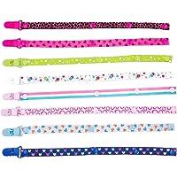 JZK 8 Piezas chupetes de clip bebé cadenas