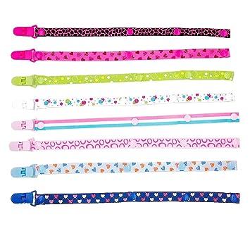JZK 8 Piezas chupetes de clip bebé cadenas para chupetes diseño unisex conviene a niños y niñas