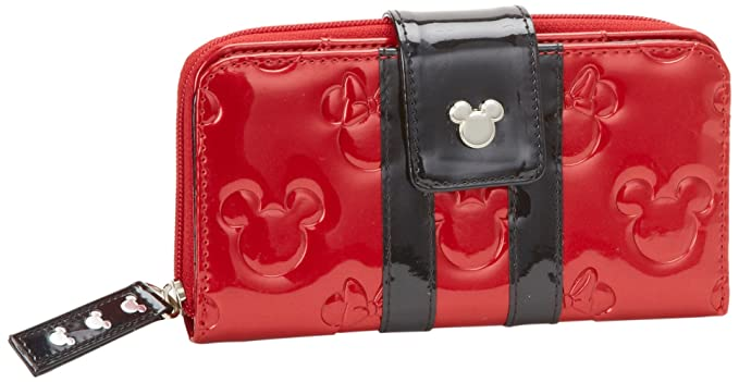 Amazon.com: Disney Mickey y Minnie Patente portafolios, Rojo ...