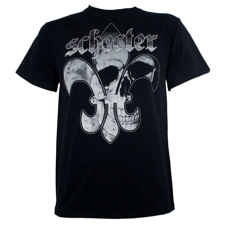Schecter Guitars - Fluer De Skull T-Shirt (Large) by ill Rock Merch