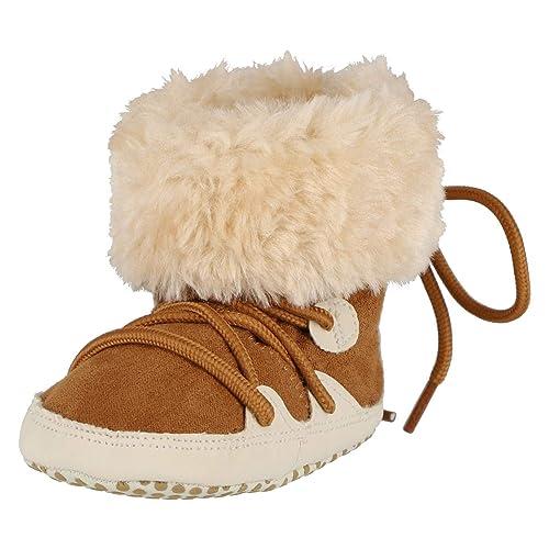 low priced c84b6 9c49b KREXUS 33W Warme Babyschuhe Jungen Mädchen Winterschuhe Wildleder  Krabbelschuhe Baby Hausschuhe Baby Schuhe Hausschuhe Baby Baby Boots 0-18  Monate
