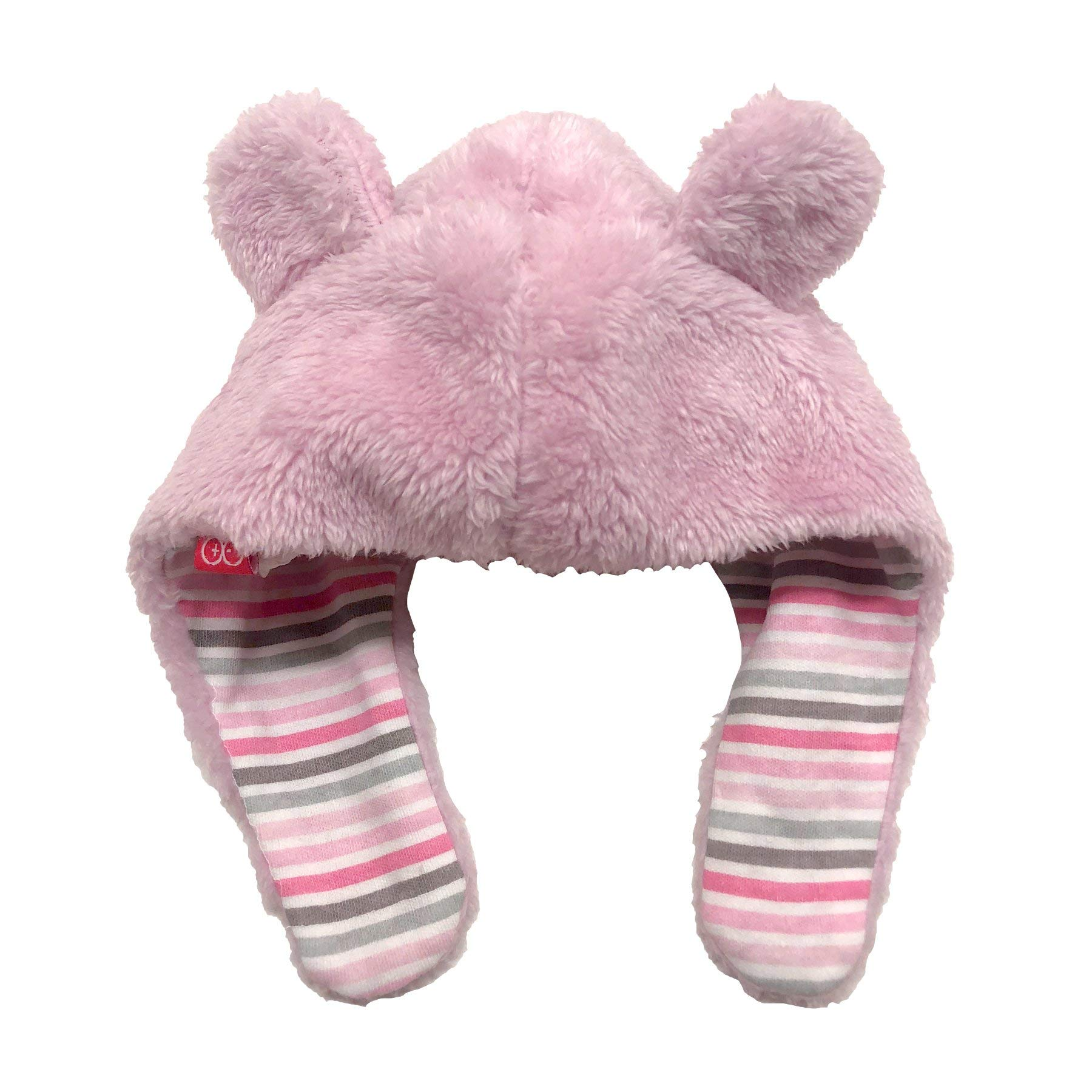 Magnificent Baby So Soft Minky Fleece Magnetic Bear Hat Peony Pink by Magnificent Baby