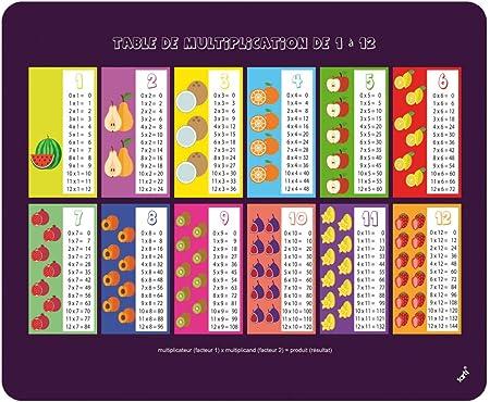 1art1 Ecole Tapis De Souris Table De Multiplication De 1 A 12