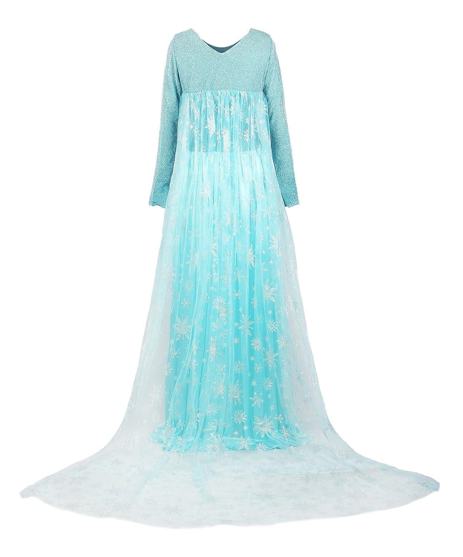 ReliBeauty Women\'s Princess Elsa Fancy Dress Costume: Amazon.co.uk ...