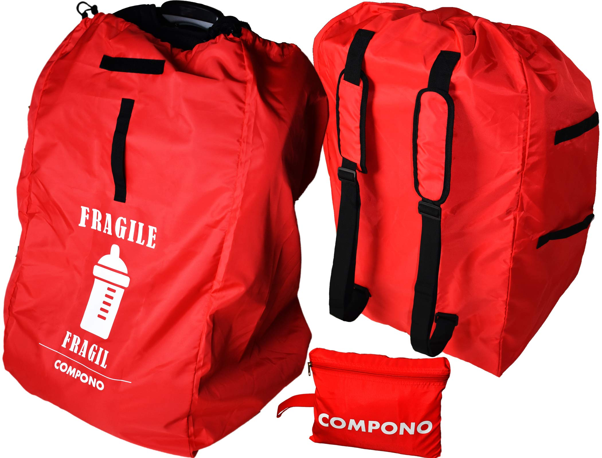 COMPONO Premium Car Seat Travel Bag - Best car seat Backpack with Padded Straps for Easy Carry by COMPONO