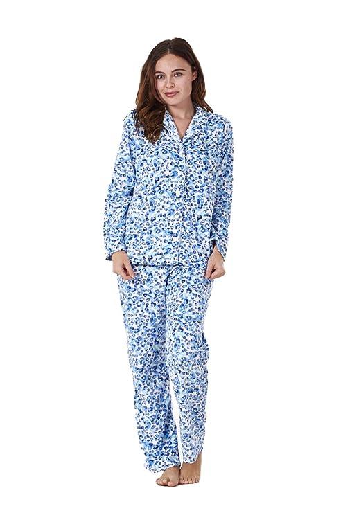 4256fd3ea Conjunto de pijama para mujer - Forro polar - Estampado  Amazon.es  Ropa