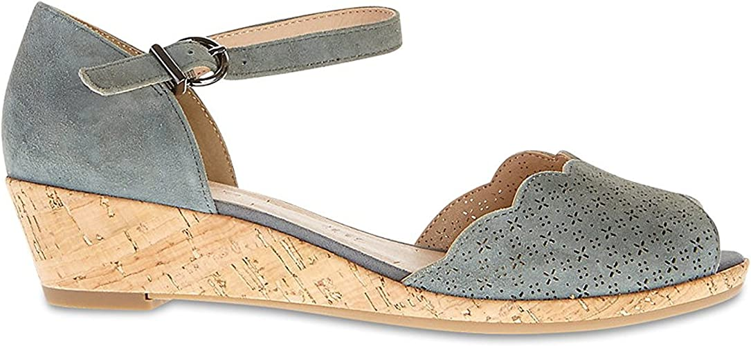 Wide Fit Suede Wedge Heel Sandals