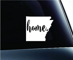 #3 Home Arkansas State Little Rock Silhouette Symbol Sticker Decal Car Truck Window Computer Laptop (White)