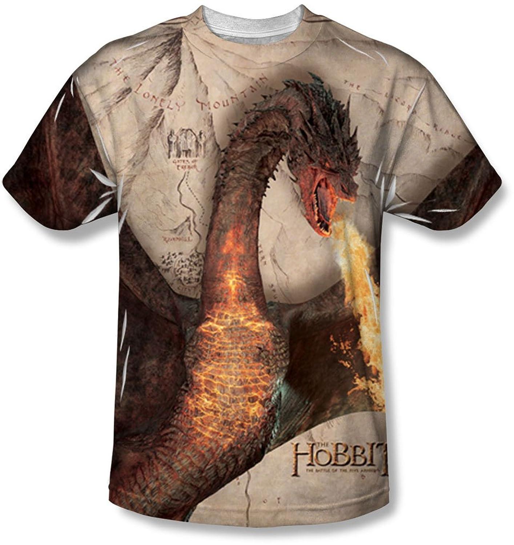 Hobbit - Mens Smaug Attack T-Shirt