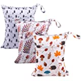 Babygoal Wet Dry Bags for Baby Cloth Diapers, Washable Travel Bags, Beach, Pool, Gym Bag for Swimsuits & Wet Clothes…