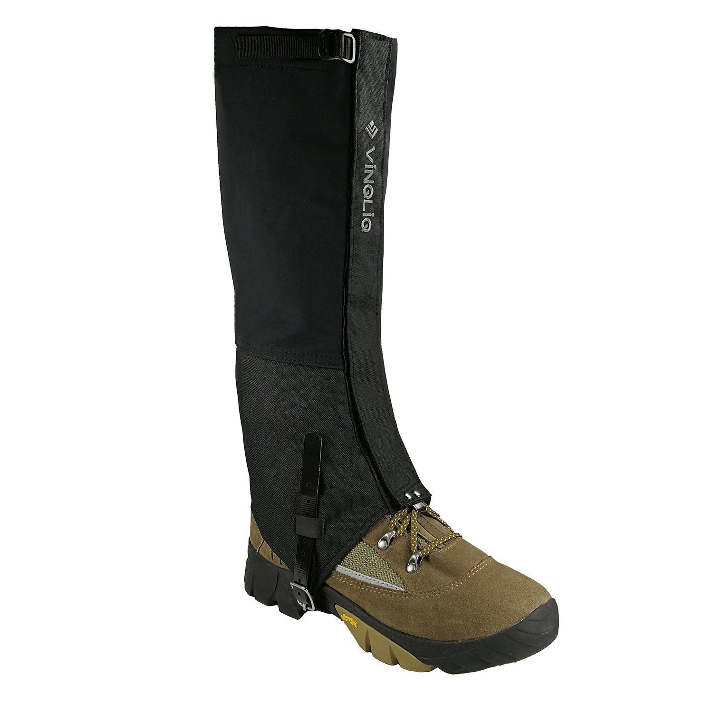 Vinqliq Durable Waterproof Breathable Hiking Ski Snow Climbing Hunting High Leg Gaiters for Men and Women (Upgraded - L)