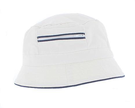 The Hat Company Mens 100% Cotton Bucket   Bush Sun Hat wih zip pocket A185 541557c36a4