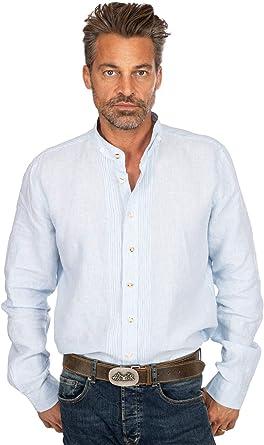Almsach 175LI - Camisa de Cuello Alto, Color Azul Claro ...