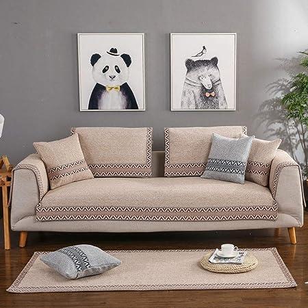 J&DDK Forma de l sofá Cubiertas Antideslizante Castillos ...