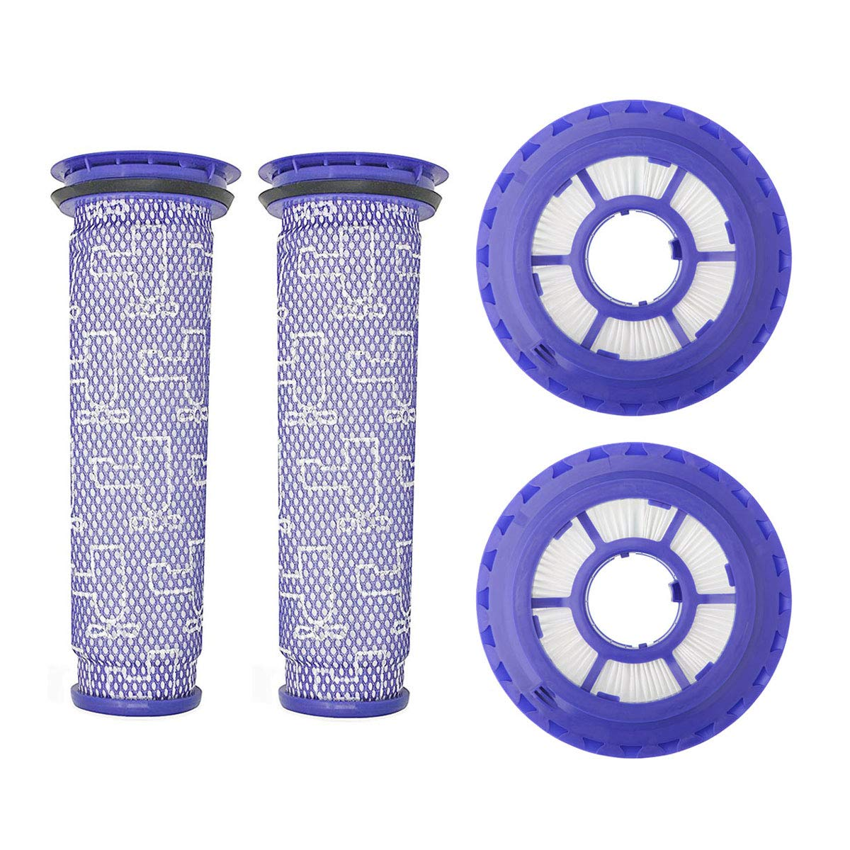 Lemige 2 Pack HEPA Post Filters & 2 Pack Pre Filters Replacement for Dyson DC65 DC66 DC41 Animal, Multi Floor and Ball Vacuums, Compare to Part 920769-01&920640-01 by Lemige