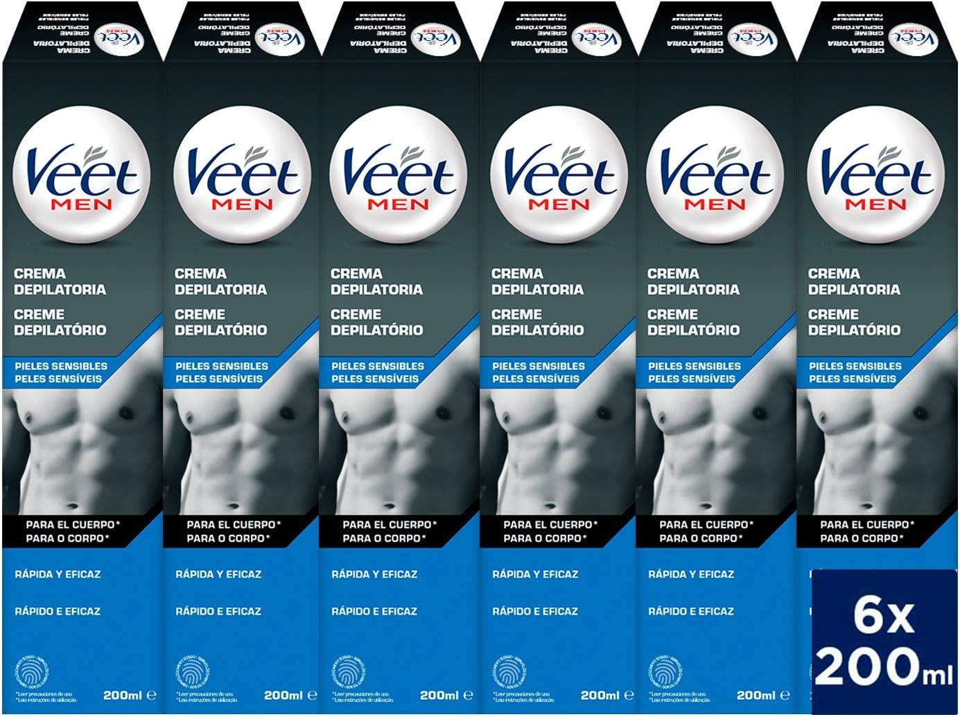 Veet for Men Crema depilatoria corporal para hombre - piel ...
