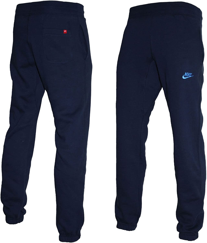 Nike Men S Fleece Lined Tech Cuffed Training Joggers Sweat Tracksuit Bottoms Pants L Navy Amazon Co Uk Clothing