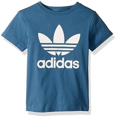 los angeles dfdf9 667b2 adidas Originals Boys  Little Trefoil Tee, Blanch Blue White, ...