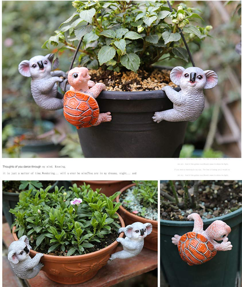 ChuXing Mini Resin Koala Miniature Fairy Garden Accessories Micro Landscape Bonsai Decor Planter Pot Hanger Decorations
