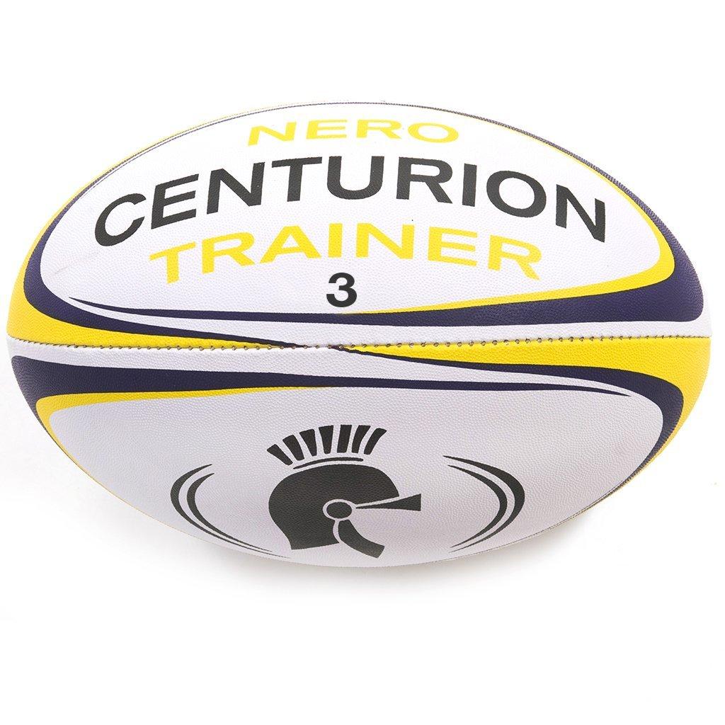 Centurion, Nero - Palla da allenamento rugby, Giallo (giallo), Taglia 5 BAL189