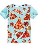 T Shirt Men Short Sleeve Summer Tops Tees Clothing 3D Pizza Print T-Shirts