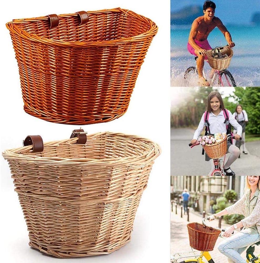 Front Cycling Basket Kids Bicycle Scooter Basket D-shape Bike Storage Basket