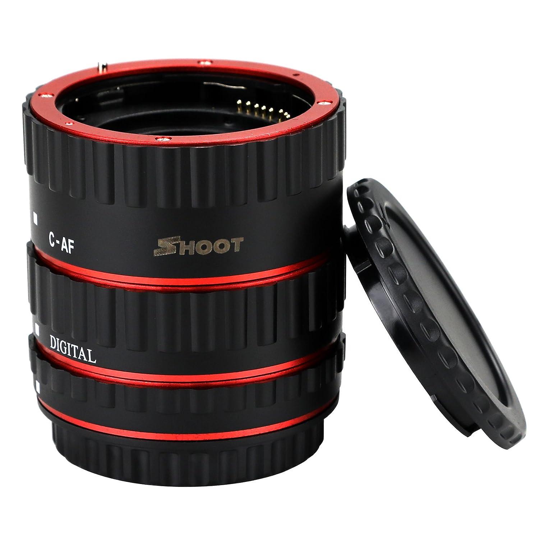 SHOOT 3 Piece Aluminum EF Focus Macro Extension Tube Set 13mm 21mm 31mm for Canon EOS EF EF-S Lens DSLR Cameras 1100D 700D 650D 600D 550D 500D 450D 400D 350D 300D 100D 70D Close-up 364