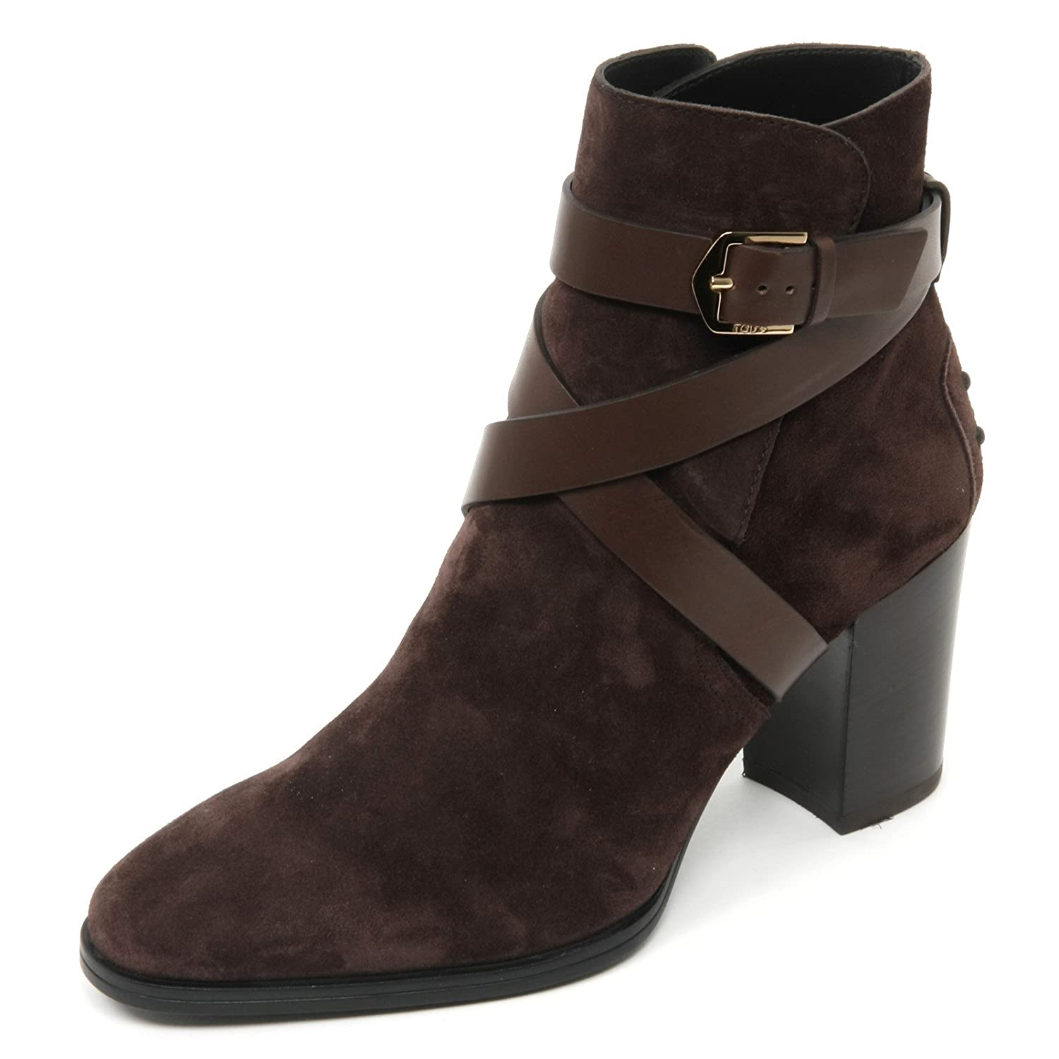 B9046 tronchetto donna TOD'S gomma T70 scarpa marrone scuro shoe boot woman39 EU|marrone scuro