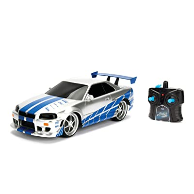 JADA Toys Fast & Furious Brian's Nissan Skyline GT-R (Bnr34)- Ready to Run R/C Radio Control Toy Vehicle, 1: 16 Scale: Toys & Games
