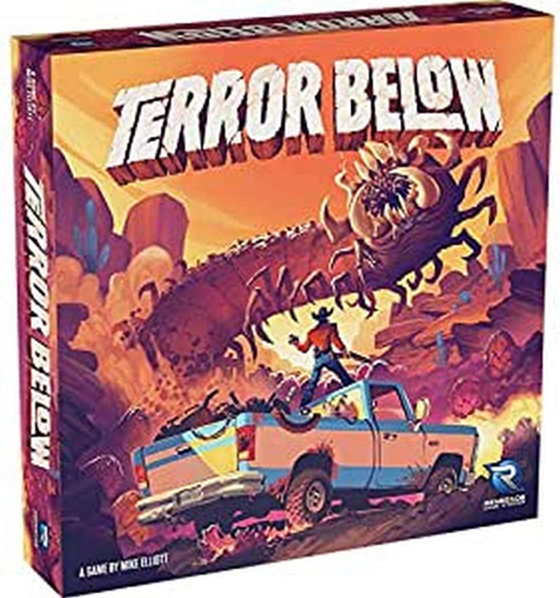 Renegade Game Studios Terror Below Board Game, Worms are Attracted The Faster You Move, Collect Worm Eggs to Claim Bounties, 2-5 Players, Ages 10 and Up, 45 - 60 Min Playing Time