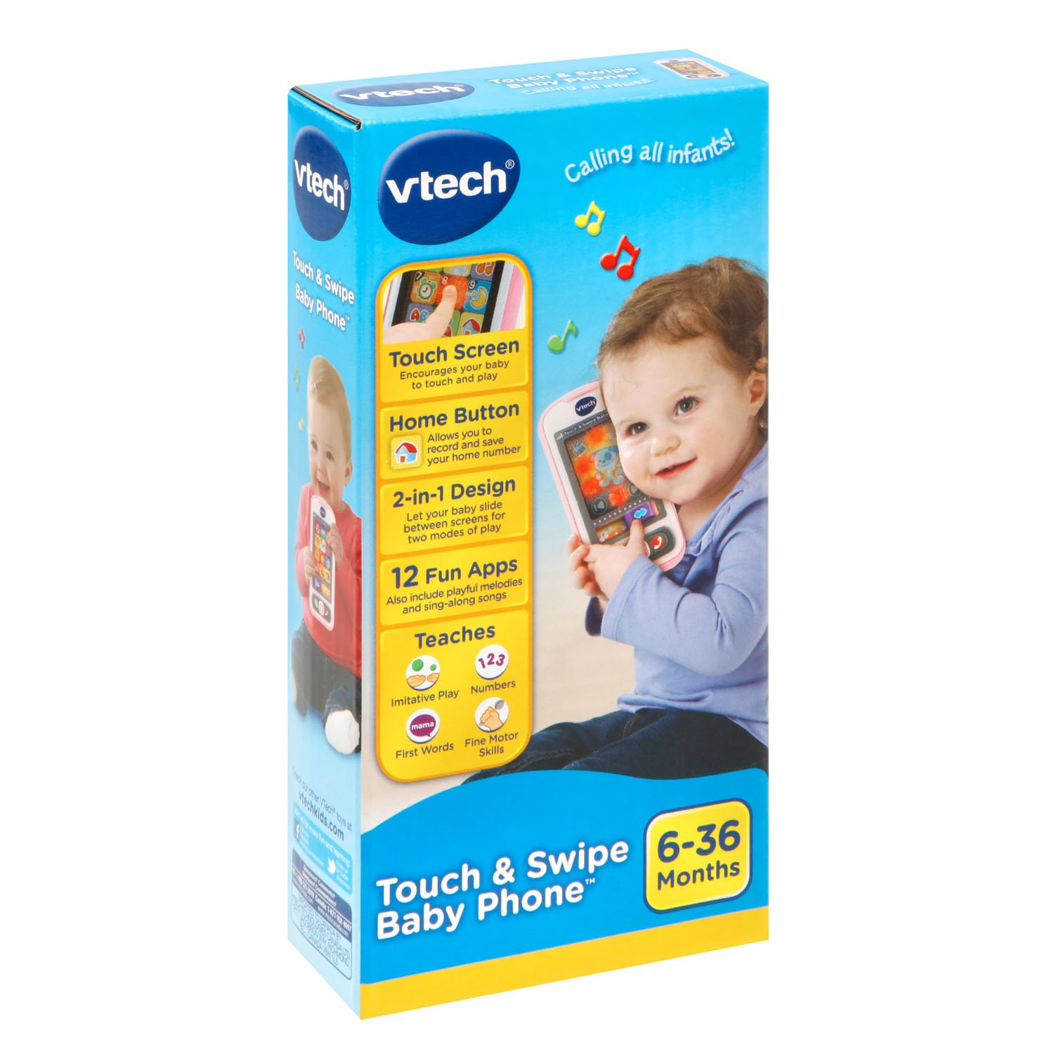VTech Touch and Swipe Baby Phone, Pink by VTech (Image #6)