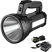 3-in 1 Powerful Rechargeable LED Torch Flashlight, 9600 mAh 1000 Lumens Side Lantern Light for Outdoor Camping Hiking…