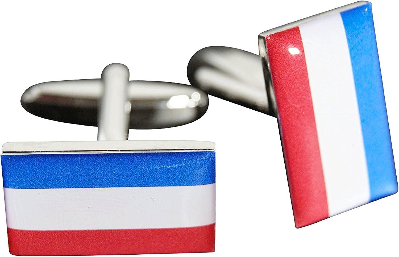 Flaggenfritze/® Manschettenkn/öpfe Flagge Niederlande