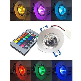 spot led d'ambiance rgb 16 couleurs + telecommande