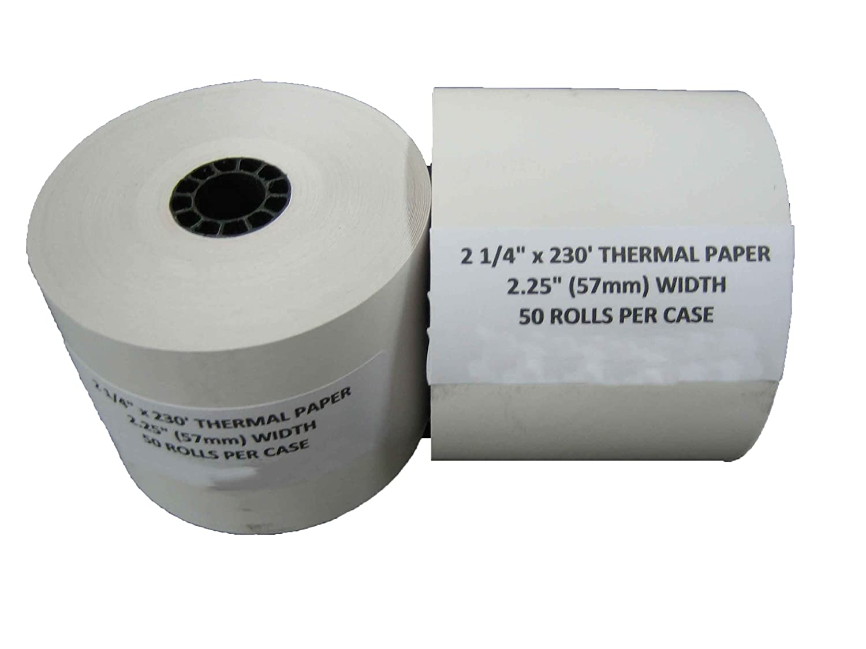 "2-1//4/"" x 230/'  50 THERMAL RECEIPT PAPER ROLLS POS CASH REGISTER"