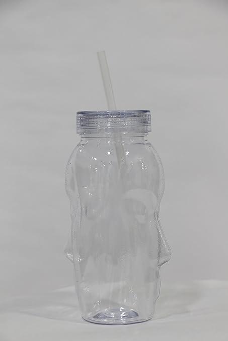 Godskitchen Polycarbonate Double Head Glass with straw Glassware & Drinkware at amazon