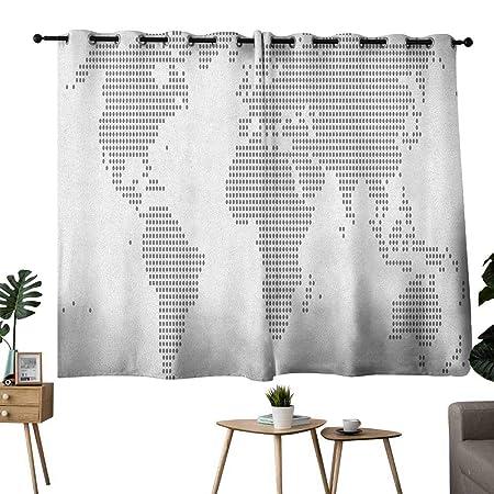 Wlkecgi Exquisito Mapa de Cortina diseño simplista Mapa del Mundo ...