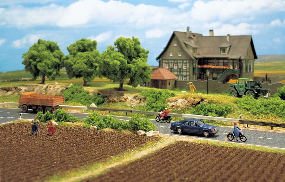 Busch 6022 Guard-Rail//Post Road Limits HO Scenery Scale Model Scenery