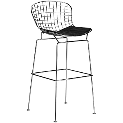Phenomenal Poly And Bark Bertoia Style Wire Bar Stool In Black Theyellowbook Wood Chair Design Ideas Theyellowbookinfo